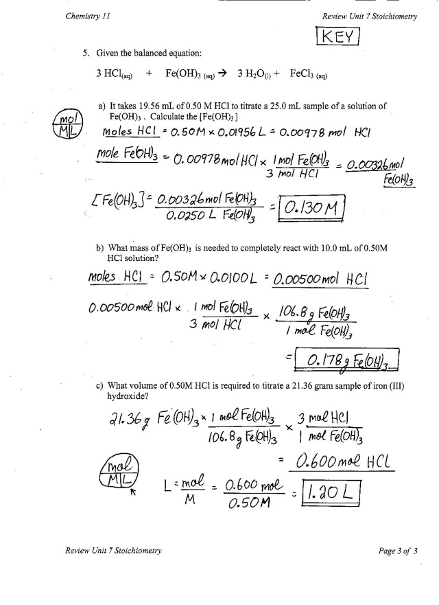MassMass Stoichiometry Worksheet – Mass-mass Stoichiometry Worksheet