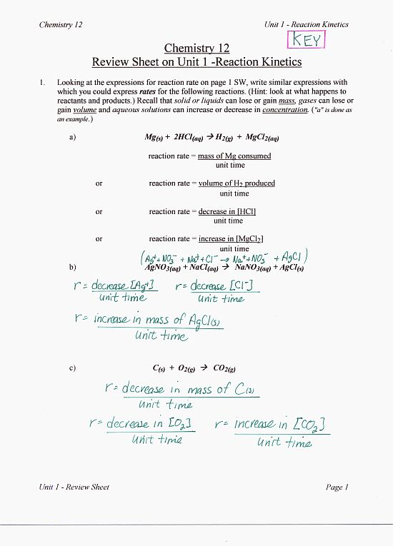Bc Chemistry 12 Gabe The Tutor. Worksheet. Worksheet Reaction Rates Chemistry A Study Of Matter Answers At Mspartners.co