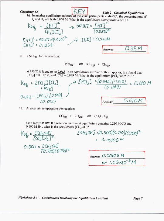 Chemistry Unit 5 Worksheet 2 Answer Key - Davezan