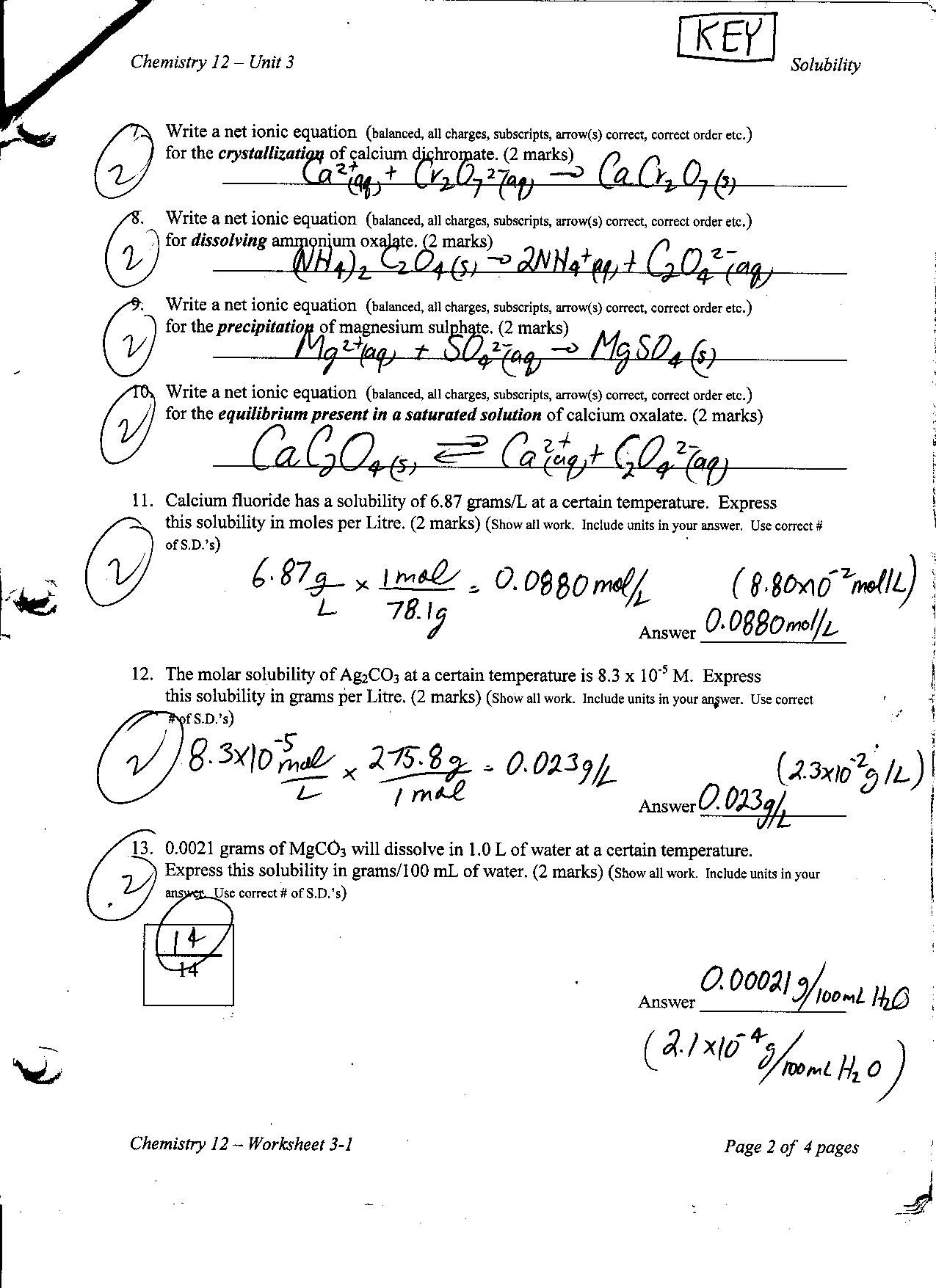 worksheet Chemistry Unit 1 Worksheet 6 Dimensional Analysis Answers chemistry 12 mr nguyens website worksheet 3 1 key page 2
