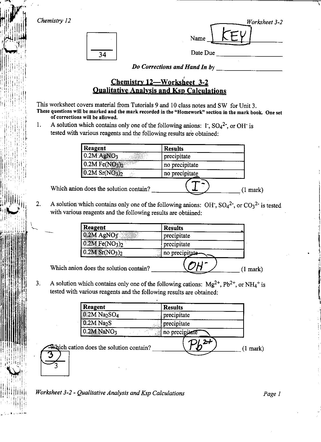 worksheet Solutions Worksheet Answers chemistry 12 mr nguyens website practice worksheets and answer keys