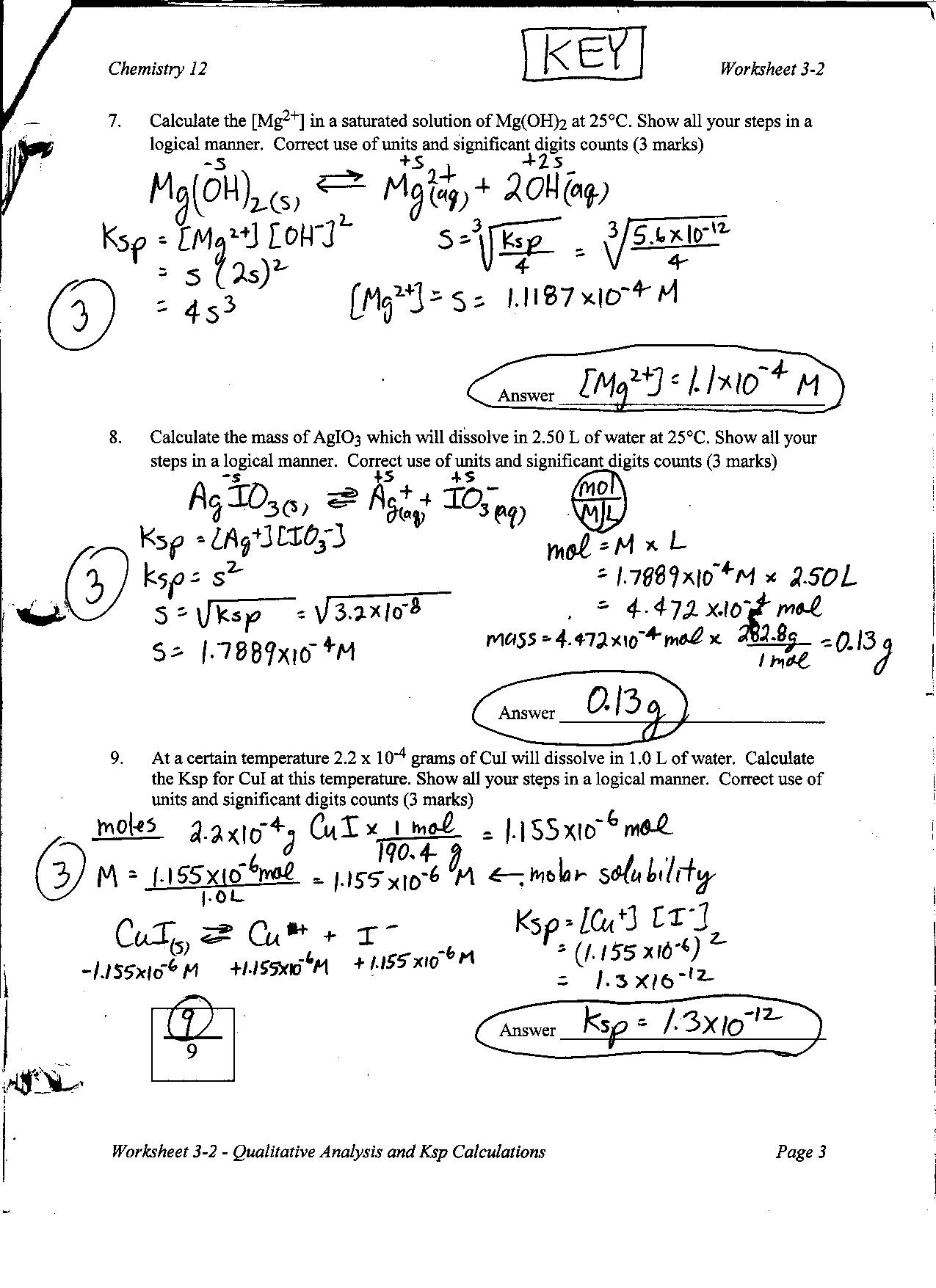 worksheet Titrations Practice Worksheet chemistry 12 mr nguyens website practice worksheets and answer keys