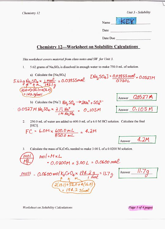 Chemistry Ph And Poh Calculations Worksheet - Thedesigngrid